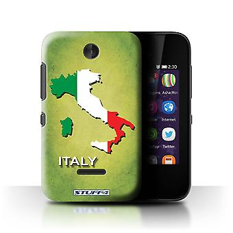 STUFF4 Case/Cover for Nokia Asha 230/Italy/Italian/Flag Nations