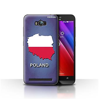 STUFF4 Case/Cover for Asus Zenfone Max ZC550KL/Poland/Polish/Flag Nations