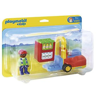 Playmobil 6959 1.2.3 gaffeltruck