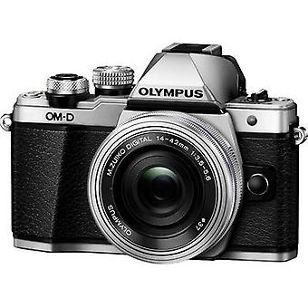 System camera Olympus E-M10 Mark II incl. M 14-42 mm 16.1 MPix Silver Pivoted display, Wi-Fi, EVF, Full HD Video