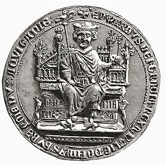 Great Seal Of Edward I 1239 To 1307 Aka Edward Longshanks And The Hammer Of The Scots King Of England From The Book Short History Of The English People By JR Green Published London 1893 PosterPrint