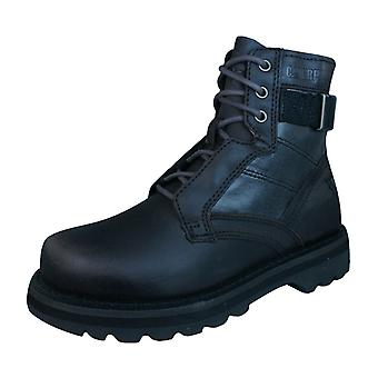 Caterpillar Draven Mens Military Leather Boots - Chocolate