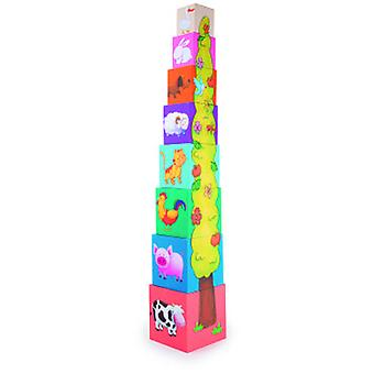 Legler Tower Of Cubes Animals (Toys , Preschool , Babies , Stackable Toys)