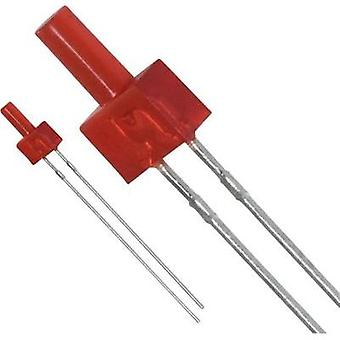 LED wired Red Cylindrical 2 mm 0.6 mcd