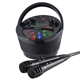 Groov-e Portable Karaoke Boombox Machine with CD Player and Bluetooth Wireless Playback - Black (Model No. GVPS923BK)