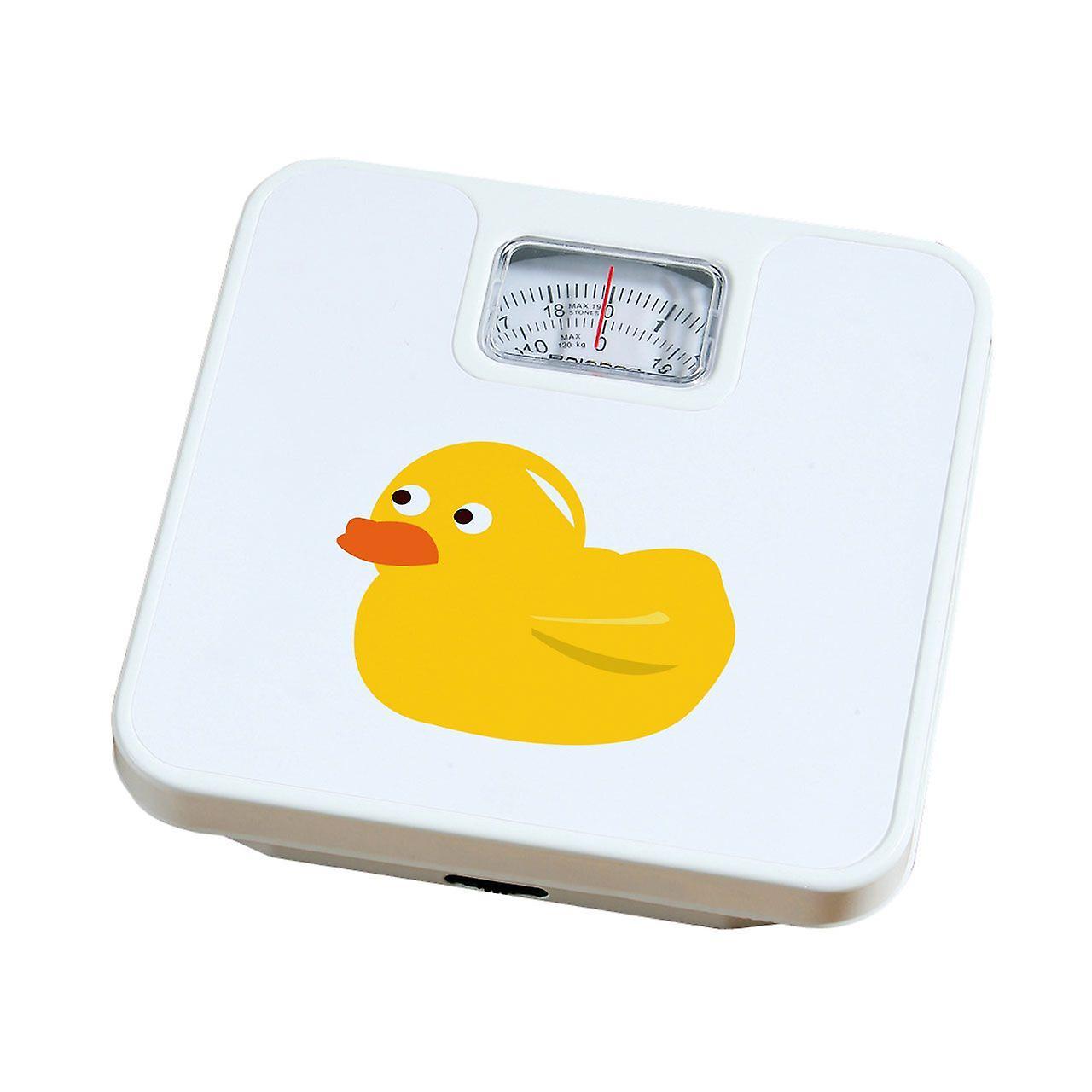 Weegschaal gele eend 120kg Max gewicht schaal wit