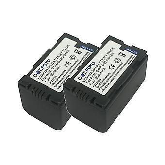 2 x Dot.Foto Panasonic CGR-D16S, CGR-D210, CGR-D220 vervangende batterij - 7.2V / 2000mAh
