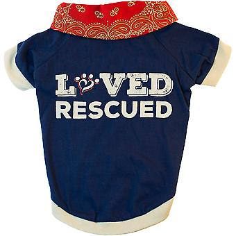 Miranda Lambert's Mutt Nation Dog T-Shirt Large-Loved & Rescued FP8776ST