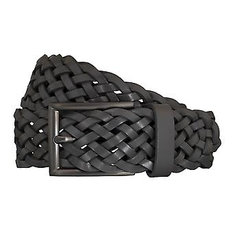 SAKLANI & FRIESE belts men's belts woven belt grey 5430