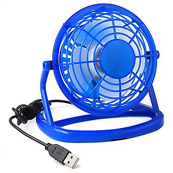 TRIXES Mini blå transportabel USB drevet Desktop afkøling Fan Computer Office Laptop stille
