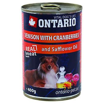 Ontario Dog Venison/Cranberries/Safflower Oil (Hunde , Hundefutter , Nassfutter)