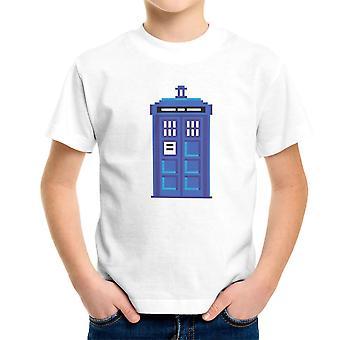 Pixel Tardis Doctor Who Kid's T-Shirt