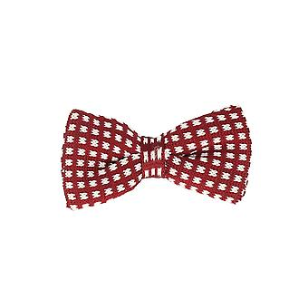 Marcell Sanders men fly loop tie cotton knitted look tied red-white