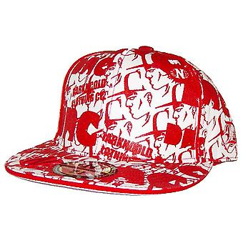 Dark n Cold All Over Print Baseball Cap White Red