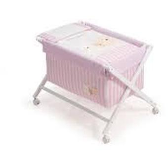 Interbaby Minicuna With Love White and Pink Téxtil