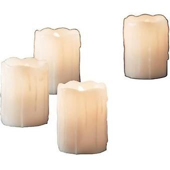 LED wax candle White Warm white (Ø x H) 5 cm x 7 cm