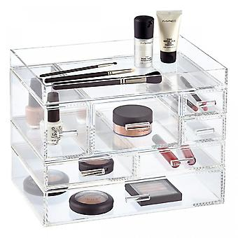 OnDisplay Venice 7 Drawer Tiered Acrylic Makeup/Jewelry Organizer