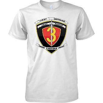 1st Battalion 3rd Marines - USMC - Military Insignia - Kids T Shirt