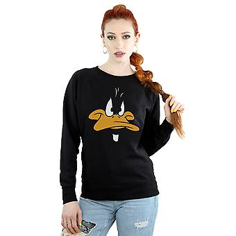 Looney Tunes Women's Daffy Duck Big Face Sweatshirt