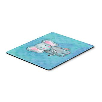 Blue Elepant Watercolor Mouse Pad, Hot Pad or Trivet