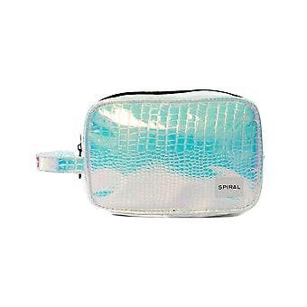 Spiral Blush Holographic Wash Bag