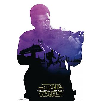 Star Wars The Force Awakens - Fin Badge Poster Poster Print
