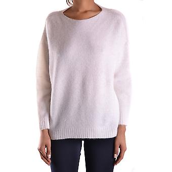 Gotha Damen MCBI140004O Weiss Wolle Sweater