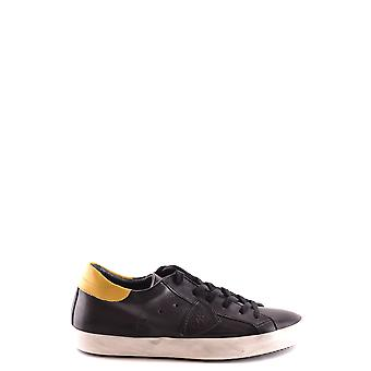 Philippe model men's MCBI238064O yellow/black leather sneakers