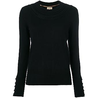 Burberry ladies 406078900100 black cashmere sweater