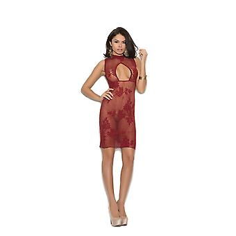 Elegant Moments  EM-1369 Lace dress with keyhole front