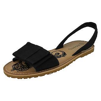 Womens Spot On Slingback Open Toe Sandal