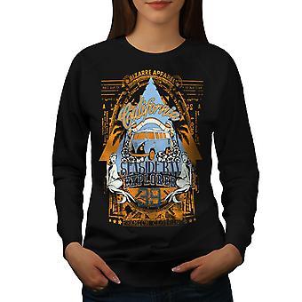 Seaside Beach Californie femmes BlackSweatshirt | Wellcoda