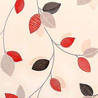 Arthouse Red Wallpaper Roll - Opera Floral Feature Design - Colour: 409700