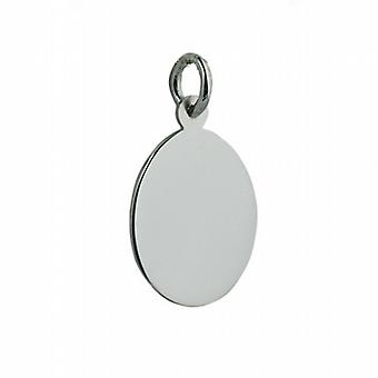 Silver 20x15 oval plain Disc