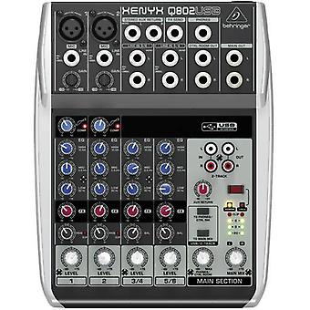 Mixing console Behringer XENYX Q802USB No. of channels:6 USB por