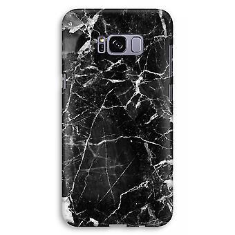 Samsung Galaxy S8 Plus Full Print Case (Glossy) - Black Marble 2