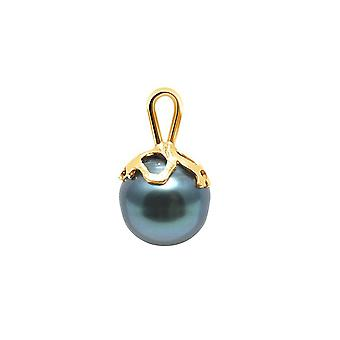 Ringed Tahitian Pearl pendant and gold yellow 375/1000
