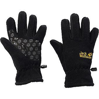 Jack Wolfskin Boys Warm Suede Reinforced Fleece Winter Gloves