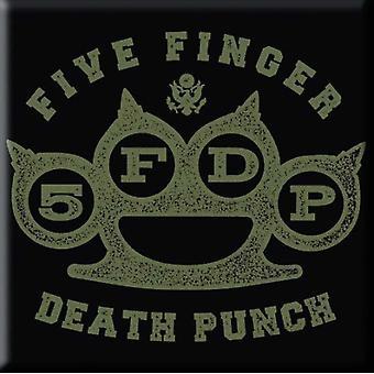Five Finger Death Punch Fridge Magnet Brass Knuckle new Official 76mm x 76mm