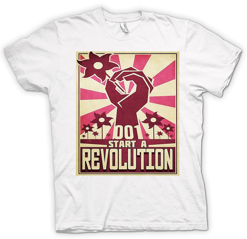 Starten Sie Mens T-shirt - eine Revolution - cooles Design
