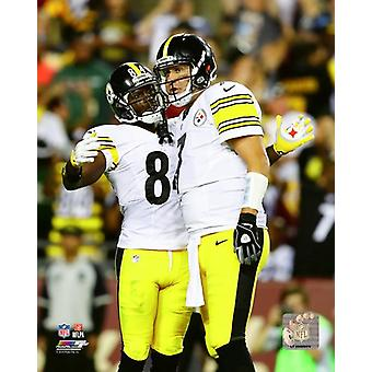 Antonio Brown & Ben Roethlisberger 2016 Photo Print