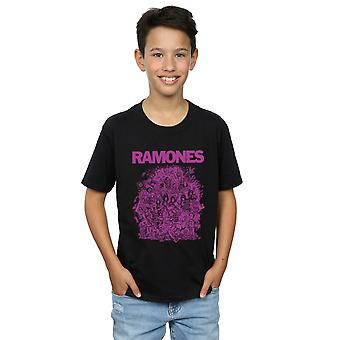 Ramones Boys High School Mädchen lila T-Shirt