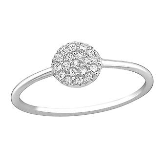 Round - 925 Sterling Silver Jewelled Rings - W37232X