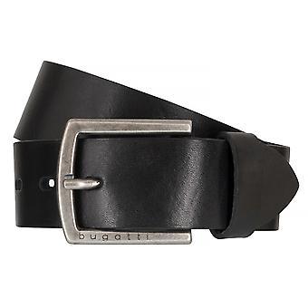 Cinturones cuero cinturón cuero negro Bugatti cinturones hombre 6501