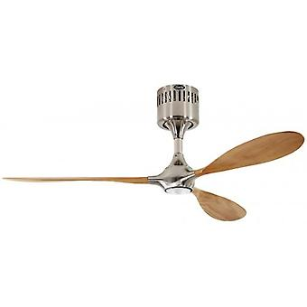 Ceiling fan Helico Paddel brushed chrome / beech without control