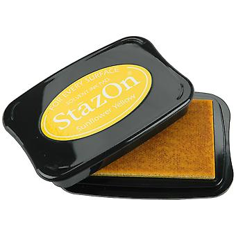 StazOn Solvent Ink Pad-Sunflower Yellow