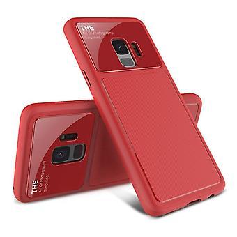 Design  Cover Rot für Samsung Galaxy S9 Plus G965F Schutzhülle Cover Etui Tasche Hülle Neu Case