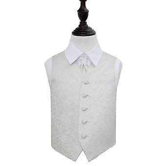 Ivory Swirl Wedding Waistcoat & Cravat Set for Boys