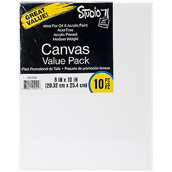 Studio 71 Stretched Canvas Value Pack 10/Pkg-8