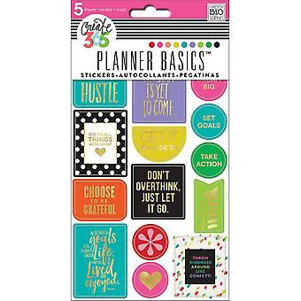Create 365 Planner Stickers 5 Sheets/Pkg-Bright - Hustle